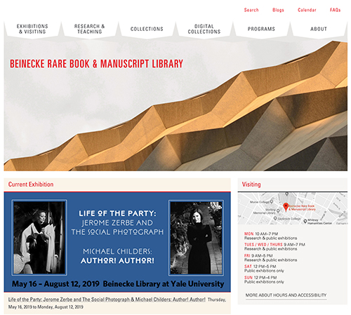 The Beinecke Rare Book & Manuscript Library website